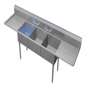 Duke Manufacturing Three Compartment Sink 243-224